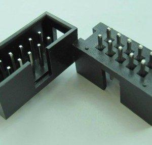 4 Pezzi DC3-10P 2.54MM Pitch Box Header Block copper needles ISP download Interfaccia (JTAG socket)