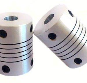 2 Pezzi 4x8 Size Motore Alluminio flexible coupling Coupler