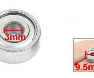 1 Pezzi 623ZZ Deep Groove Cuscinetto a sferas 9.5mm x 3mm x 4mm Silver Tone