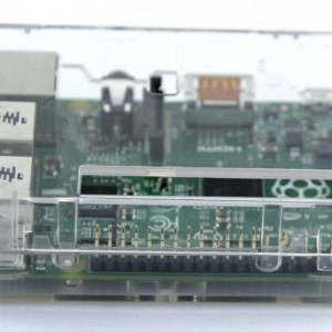 Raspberry PI 2 B+ Square Case Black Transparent