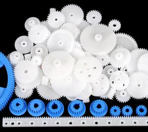 69 Pc RC Parts Lot, Plastic Gears, Puleggia, Cinghia, Rack, DIY Robots & Cars, As Pictured