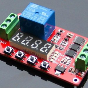 12V DC Multifunction Self-lock Relè PLC Cycle Timer Modulo Delay Time Pulsante