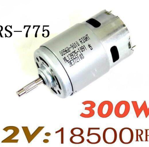 RS-775 300W 12V:18500rpm High Speed DC Motore