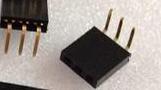 10 Pezzi 1*3P 2.54mm Bent Pin Header Femmina Connettore Plug