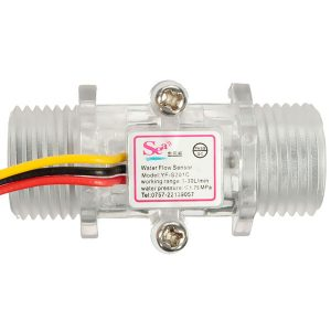 Sensore Flusso d'acqua Flussometro YF-S201C G1/2 DN15 3.5-24VDC 1-30L/Min