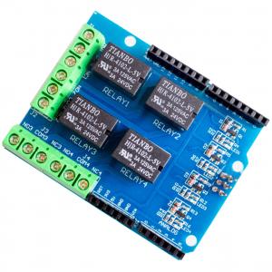 Four Canali Relè Shield 5V 4 Canali 4CH Relè Shield Modulo per Arduino