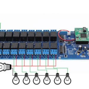Industrial Ethernet 16 canali di uscita TCP/IP Relè WEB Internet Interruttore Remoto UK