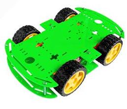 Green 4WD Dual Classis Robot Car