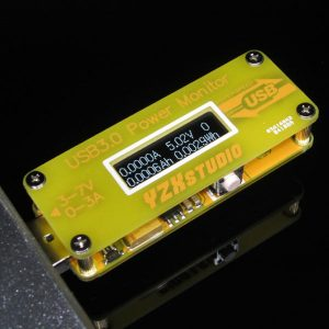 USB 3.0 Power Monitor (Yellow) YZXstudio Voltaggio Current Meter High Resolution OLED