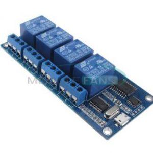 Computer superiore modulo relè micro USB a 4 canali 5V 10A