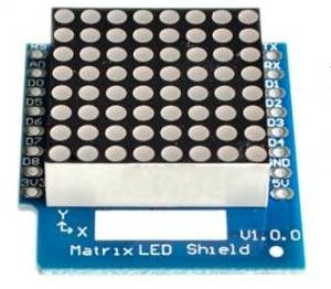Matrix LED Shield V1.0.0 per WEMOS D1 mini 8x8 Matrix Dot Matrix LED
