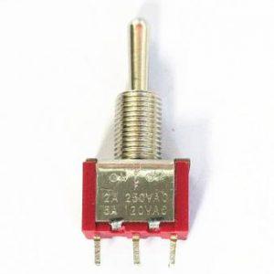 Interruttore a levetta rosso MTS-123 3 piedi 3 apertura file 6MM (ON) -OFF- (ON)