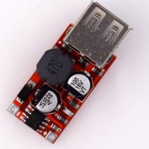 Modulo regolatore buck buck USB 9V / 12V / 24V a 5V / uscita 3A rosso