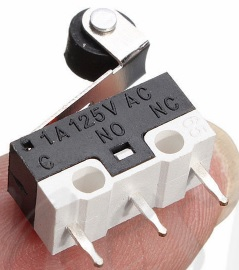 Ultra Mini Micro Switch Roller Lever Actuator Microswitch SPDT Sub Miniature