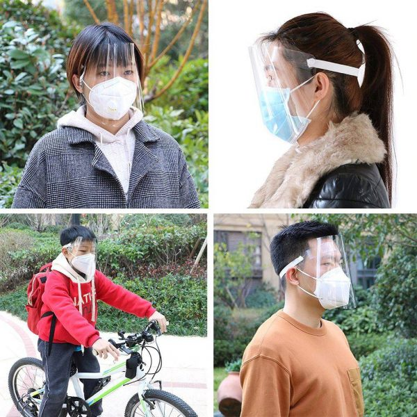 Visiera trasparente antipolvere antiappannamento antisaliva